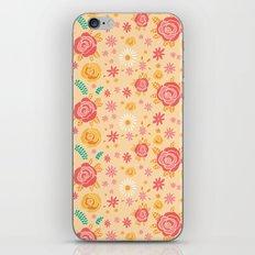 Peach Roses iPhone Skin