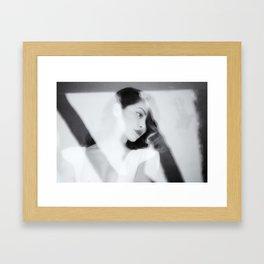 White Dress Series Framed Art Print