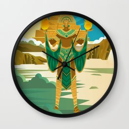 inti inca god of the sun Wall Clock