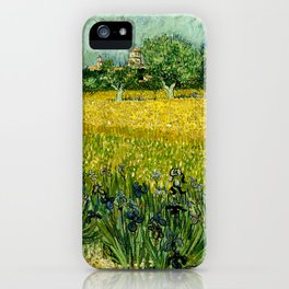Vincent Van Gogh - Field with flowers near Arles iPhone Case