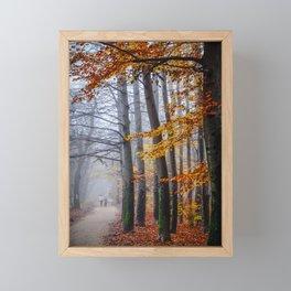 The last stroll in November Framed Mini Art Print
