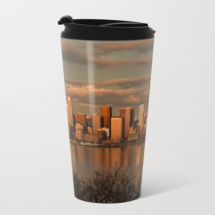 Seattle Cityscape Metal Travel Mug