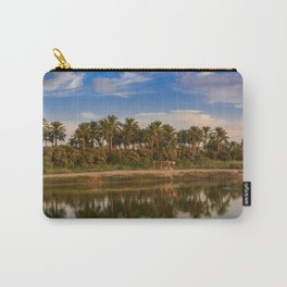 plam tree Reflection on water in country Carry-All Pouch