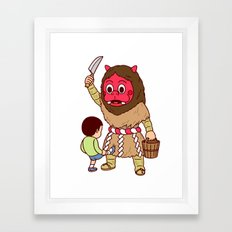 Baby Faced Namahage Framed Art Print