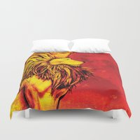 the lion king Duvet Covers featuring Lion King by RICHMOND ART STUDIO