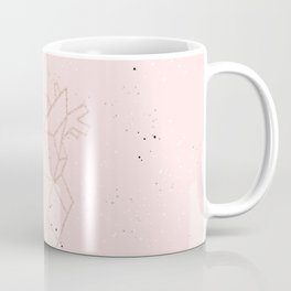 pink speckled with rose gold geometric heart Coffee Mug