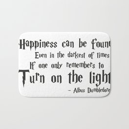 Happiness and Darkness Bath Mat