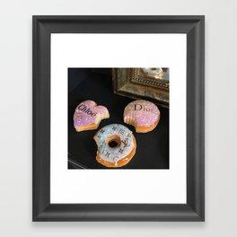 Luxury donuts Framed Art Print