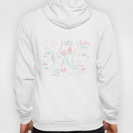 Austin, Texas Illustrated Calligraphy Map Hoody