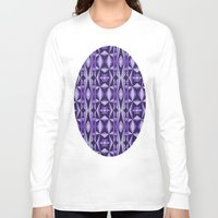 deco Long Sleeve T-shirts featuring Monochrome Deco by MCimagerystudio