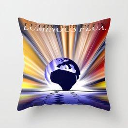 Luminous flux. Throw Pillow