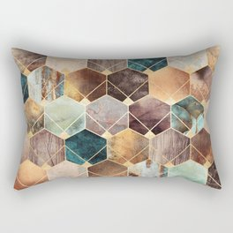 Natural Hexagons And Diamonds Rectangular Pillow