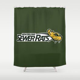 Sewer Rats Full Logo Shower Curtain