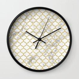 Moroccan marble Wall Clock