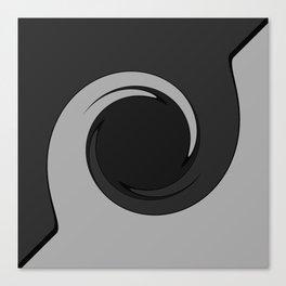 Grey Wave Blade Canvas Print