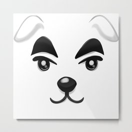 Animal Crossing KK Slider Metal Print