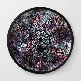 Intergalactic Mandala Wall Clock