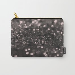 Blush Gray Black Lady Glitter #1 #shiny #decor #art #society6 Carry-All Pouch