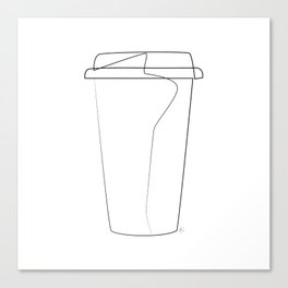 """ Kitchen Collection "" - Coffee Take Out Cup Canvas Print"