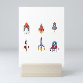 Space Rockets Mini Art Print