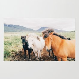 HORSES IN THE MEADOW Rug