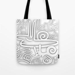 White Snails Tote Bag