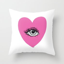 Love is watching Throw Pillow