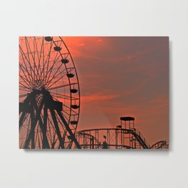 Sundown in Fun Town Metal Print
