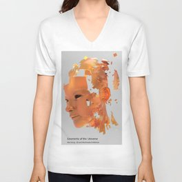 Face Extract Geomertic of the Universe-Poster Unisex V-Neck