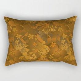 Floral yellow orange satin pattern . Rectangular Pillow