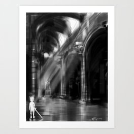 the sword in the stone Art Print