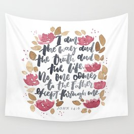 John 14:6 Wall Tapestry