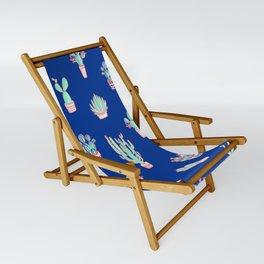 Little cactus pattern - Princess Blue Sling Chair
