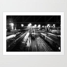 Novosibirsk - Main railway station. Art Print