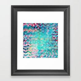 Chevron Remix Framed Art Print