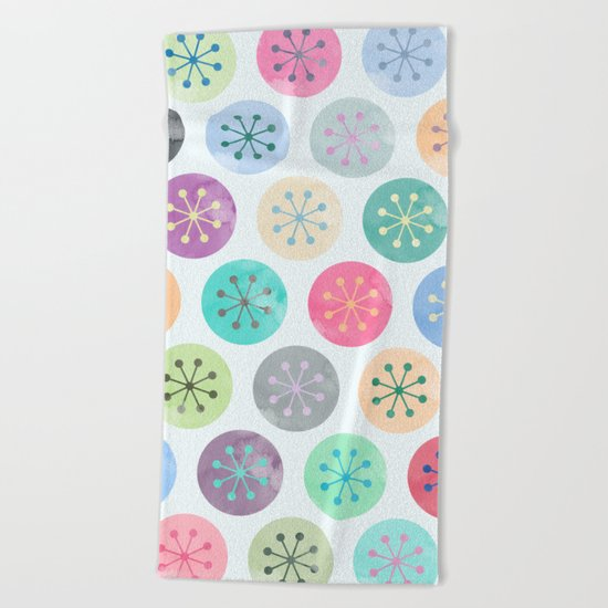 Watercolor Lovely Pattern V Beach Towel