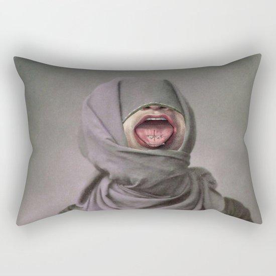 I KEEP BITING MY TONGUE Rectangular Pillow