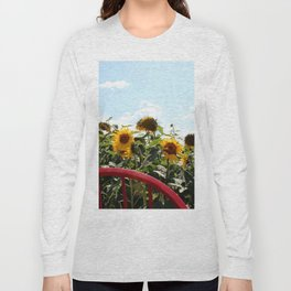 Sunflowers by a Red Chair Long Sleeve T-shirt