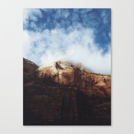 Foggy Zion Canvas Print