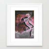 ballerina Framed Art Prints featuring ballerina. by PureVintageLove
