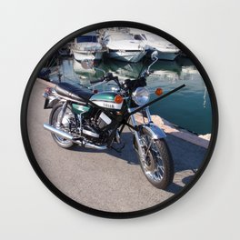 Classic Two Stroke Motorcycle Wall Clock