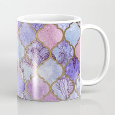 Royal Purple, Mauve & Indigo Decorative Moroccan Tile Pattern Coffee Mug