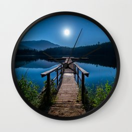 Bright Night Sky at British Columbia Wall Clock
