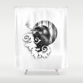 HUGINN Shower Curtain