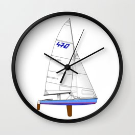 470 Olympic Sailboat Wall Clock