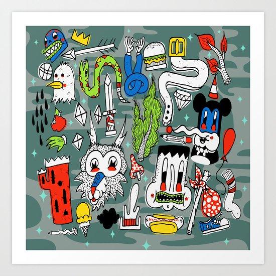 Memory Junk Art Print