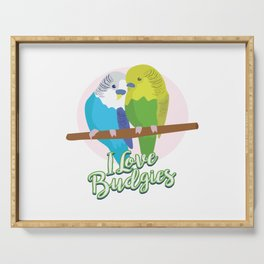 Funny Budgerigar Budgie Pet Bird Lover Nerdy Gift Serving Tray