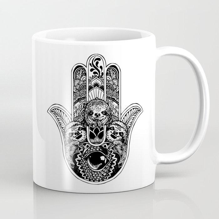 d619169f4 Hamsa Hand Sloth Coffee Mug by huebucket | Society6