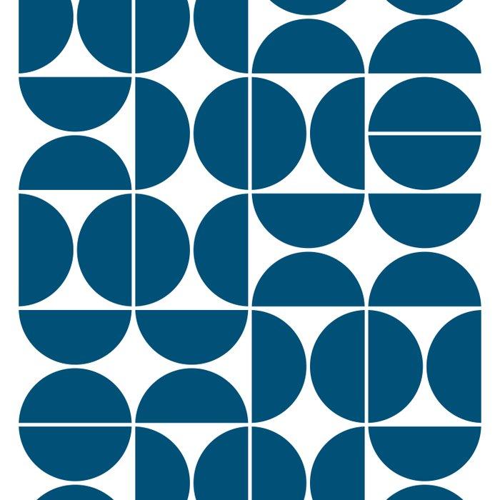 Mid Century Modern Geometric 04 Blue Comforters
