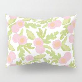 watercolor pink flowers Pillow Sham